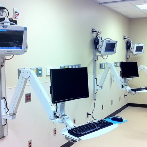 Elite Double Arm with Phillips Monitor